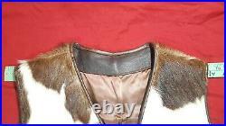 Vintage Genuine Cowhide Fur Leather/ Natural Hair Skin Vest Sz 38/40