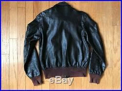 Vintage Goatskin A-2 Jacket Flight Bomber Leather LL BEAN Men Size Medium 42