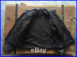 Vintage LEVI'S Moto Leather Jacket Large Black Distressed Look AWESOME LOOK