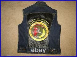 Vintage LEVIS big E WORK Denim VEST JACKET vietnam souvenir size. 42