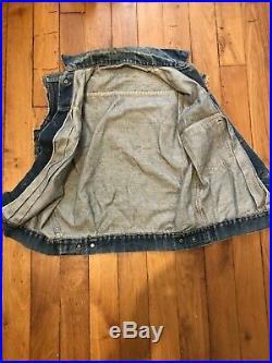 Vintage Levi's 507XX Big E Denim Vest Type II Jacket