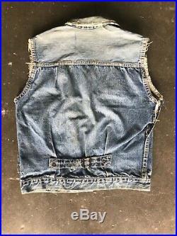 Vintage Levis 506xx Type 1 Denim Vest Jacket One Pocket Big E Trucker Original
