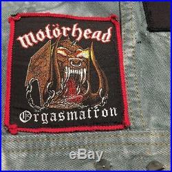 Vintage Lois Heavy Metal Jacket Vest Rare Patches Metallica Motorhead Slayer