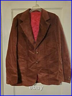 Vintage Men's Corduroy 3 Piece Pants Vest Jacket JCPenney
