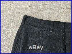 Vintage Mens 1950s 3 Piece Wool Suit Blazer Vest Pants 50s 39 40 S Drop Loop