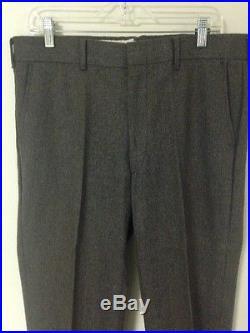 Vintage Mens 36R Contemporary Fit Tweed 3 Piece Suit Vest Pants Multi-Color
