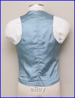 Vintage Mens 40L Light Blue Reversible Vest and Pants Set