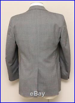 Vintage Mens 40R Sears Tailored Clothing Grey Glen Check Suit Vest & Jacket Set