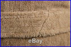Vintage Mens Paul Stuart Alpaca Fuzzy Bearcat Coat 40R Overcoat Invertere Brown