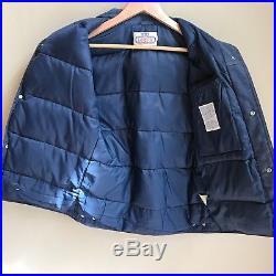 Vintage Mens Ski Levis Denim Vest Orange Tab Goose Down Filled Size Medium