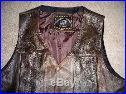 Vintage Milwaukee Leather By Shaf Biker Motorcycle Riding Men's Vest Size 46