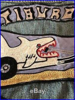 Vintage Motorcycle Club MC Denim vest Levis 70s Hells Angels Tiburon TMC