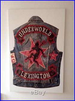 Vintage Motorcycle Club Vest Artwork