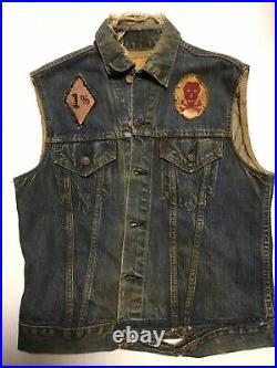 Vintage Motorcycle Club Vest Biker Gang Outlaw MC