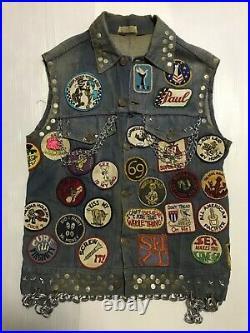 Vintage Motorcycle Club Vest MC Outlaw Biker Gang Cut