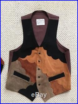 Vintage NUDIE'S RODEO TAILORS CUSTOM MADE Mens Leather Vest L to M