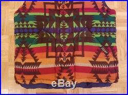 Vintage Nwt Ralph Lauren Polo Wool Indian Pattern Goose Down Vest Sz Medium