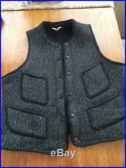 Vintage Original Browns Beach Cloth Vest Size 36, Good Condition