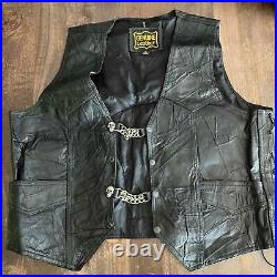 Vintage Outlaw Leather Motorcycle Club Vest Patch MURPHY'S LAW MC Punk nyhc sku
