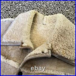 Vintage Overland Sheepskin Co. Shearling vest mens size L Leather