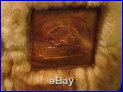 Vintage Overland Sheepskin Patchwork Button Up Vest L READ DETAILS Rare HTF