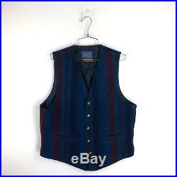 Vintage Pendleton High Grade Western Wear Vest Wool Aztec 70s Size Medium Mens