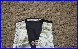 Vintage Piero Fornasetti Gilet Marina Silk Vest 1986 Median to Large Adjustable