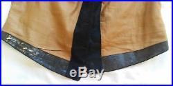 Vintage Pre-Civil War Antique Men's Black VEST Dated 1858 Gold Buckle Back Rare