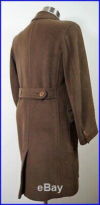 Vintage Pre ww2 1920/30`s Brown overcoat London Peaky blinders size approx 40