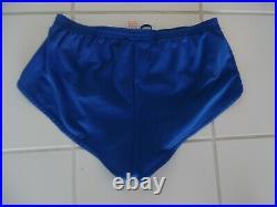 Vintage Rare Adidas High Cut Sprinter Shorts And Vest-m-blue/white Stripes