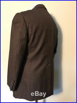 Vintage Savile Row Johns & Pegg bespoke Pinstripe suit size 40 short