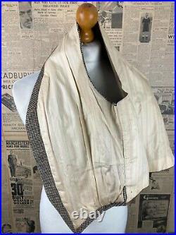 Vintage Savile Row bespoke tweed waistcoat size 38