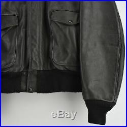 Vintage Schott A-2 Dark Seal Brown Leather Flight Bomber Jacket Made in USA XXL