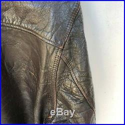 Vintage Schott Bros. Perfecto leather jacket, dark brown, 1960s