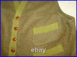 Vintage VEST Jacket green rare Sz. M MENS