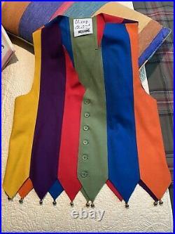 Vintage Vest Cheap And Chic Moschino Rare Jester Men's Vest, size 42