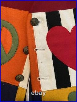 Vintage Vest Cheap & Chic Moschino Men's Vest. Wool appliqué Peace signs(1992)