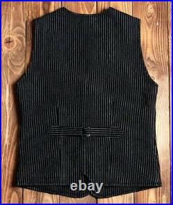 Vintage Vtg Pike Brothers 1905 Hauler Vest black wabash Size Medium
