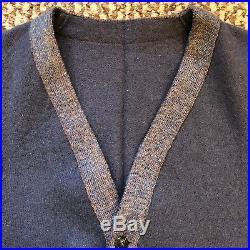 Vintage Vtg Rare 1940s 40s Unbranded Wool Work Vest Salt And Pepper