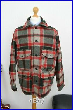 Vintage WOOLRICH Mackinaw Hunting Jacket Mens Size 42/44 Wool Mr Porter Filson