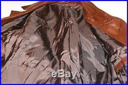 Vintage West German Leather Trench Coat/spy Coat! Belt/softest Brown Leather! 44