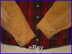 vintage woolrich railroad vest jacket buckle back