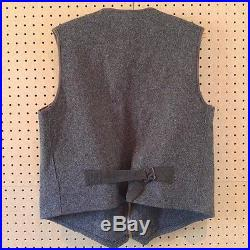 Vintage Woolrich Wool Zip Up Vest Size 46 Talon Zipper Cinch Back USA Made Rare
