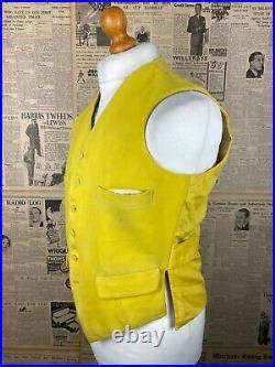 Vintage bespoke 1918 Huntsman Savile Row wool riding waistcoat size 38 40