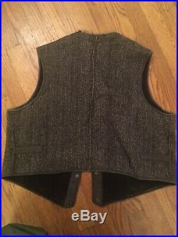 Vintage browns Beach Jacket And Vest