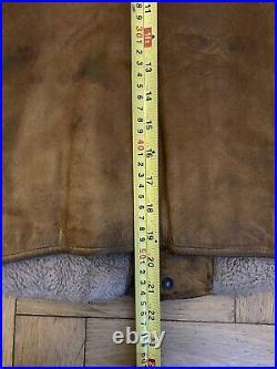 Vintage leather vest Biker Hunting Rugged made in USA RRL