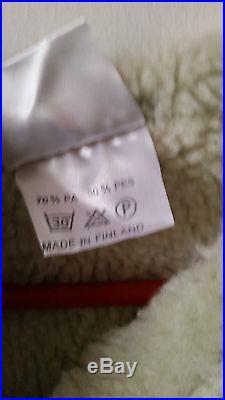 Vintage mens Vest Gray White Baidi Finland reindeer leather antler toggles XS