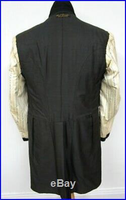 Vtg 1920s 3pc Tuxedo 40 R MINT CONDITION black wool jacket VEST pants WEDDING