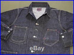 Vtg 1930s Style EASTMAN UNION MADE DENIM WORK WEAR JACKET MINT Indigo Chore Coat