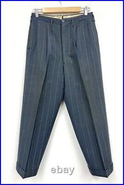Vtg 1940s 3pc Suit 38 R UNION MADE jacket Vest pants Pinstripe gab gangster